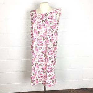 Vintage House Dress Union Made floral shift M